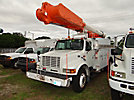 Altec AM855-MH, Over-Center Material Handling Bucket Truck rear mounted on 2001 International 4900 Utility Truck