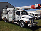 Altec AM855-MH, Over-Center Material Handling Bucket Truck rear mounted on 2001 Sterling M8500 Utility Truck