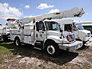 Altec AM855-MH, Over-Center Material Handling Bucket Truck rear mounted on 2002 International 4300 Utility Truck