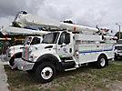 Altec AM855-MH, Over-Center Material Handling Bucket Truck rear mounted on 2003 International 7300 4x4 Utility Truck