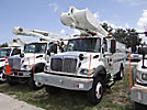 Altec AM855-MH, Over-Center Material Handling Bucket Truck rear mounted on 2003 International 7300 4x4 Utility Truck