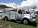 Altec AM855-MH, Over-Center Material Handling Bucket Truck rear mounted on 2004 International 4300 Utility Truck