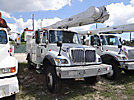 Altec AM855-MH, Over-Center Material Handling Bucket Truck rear mounted on 2004 International 7300 4x4 Utility Truck
