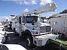Altec AM855-MH, Over-Center Material Handling Bucket Truck rear mounted on 2005 International 7300 4x4 Utility Truck
