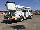 Altec AM855-MH, Over-Center Material Handling Bucket Truck rear mounted on 2006 International 4300 Utility Truck