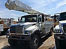 Altec AM855-MH, Over-Center Material Handling Bucket Truck rear mounted on 2007 International 7300 4x4 Utility Truck