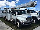 Altec AM855-MH, Over-Center Material Handling Bucket Truck rear mounted on 2009 International 4300 Utility Truck