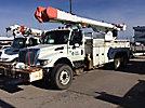 Altec AM855MH-E68, Elevator Bucket Truck, rear mounted on, 2004 International 7400 6x4 T/A Utility Truck