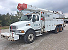 Altec AM855MH-E68, Over-Center Material Handling Bucket Truck rear mounted on 2005 Sterling L8500 T/A Utility Truck
