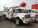 Altec AM855MH-E68, Over-Center Material Handling Elevator Bucket Truck, rear mounted on, 2004 International 7400 T/A Utility Truck