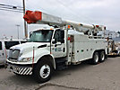 Altec AM855MH-E68, Over-Center Material Handling Elevator Bucket Truck, rear mounted on, 2006 International 4400 T/A Utility Truck