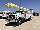 Altec AM857-MH, Over-Center Material Handling Bucket Truck rear mounted on 2001 Chevrolet C8500 Utility Truck