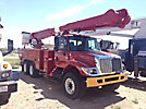 Altec AM862-MH, Over-Center Material Handling Bucket Truck, rear mounted on, 2005 International 7400 T/A Utility Truck