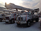 Altec AM900, Bucket Truck, rear mounted on, 1998 GMC C7500 Flatbed Truck