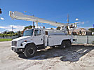 Altec AM900-E100, Double-Elevator Bucket Truck, rear mounted on, 1999 Freightliner FL80 T/A Utility Truck