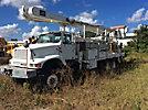 Altec AM900-E100, Double-Elevator Bucket Truck rear mounted on 2002 International 2554 T/A Flatbed/Utility Truck