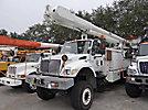 Altec AM900-E100, Double-Elevator Bucket Truck rear mounted on 2003 International 7400 6x6 Flatbed/Utility Truck