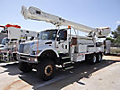 Altec AM900-E100, Double-Elevator Bucket Truck rear mounted on 2003 International 7400 6x6 Flatbed/Utility Truck