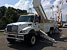 Altec AM900-E100, Elevator Bucket Truck, rear mounted on, 2002 International 7400 6x6 Utility Truck