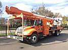 Altec AM900-P, Bucket Truck rear mounted on 2005 International 4400 Flatbed/Utility Truck