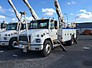 Altec AN650-MH, Material Handling Bucket Truck, rear mounted on, 2002 Freightliner FL70 Utility Truck