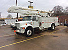 Altec AN650-MH, Material Handling Bucket Truck rear mounted on 2000 International 4900 Utility Truck