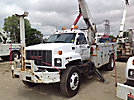 Altec AN755-P, Bucket Truck, rear mounted on, 2000 GMC C7500 Utility Truck