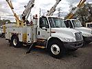 Altec AO442-MH, Material Handling Bucket Truck, rear mounted on, 2002 International 4300 Utility Truck