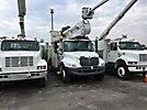 Altec AO442-MH, Material Handling Bucket Truck rear mounted on 2002 International 4300 Utility Truck
