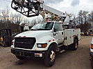 Altec AP36, Telescopic Non-Insulated Cable Placing Bucket Truck, rear mounted on, 2000 Ford F650 Utility Truck