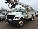 Altec AP40, Telescopic Non-Insulated Cable Placing Bucket Truck, rear mounted on, 2000 Ford F650 Utility Truck