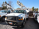 Altec AT200, Telescopic Non-Insulated Bucket Truck, mounted behind cab on, 2001 Ford F450 Service Truck