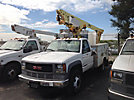 Altec AT200-A, Telescopic Non-Insulated Bucket Truck, mounted behind cab on, 1998 GMC C3500HD Service Truck