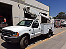 Altec AT200-A, Telescopic Non-Insulated Bucket Truck, mounted behind cab on, 1999 Ford F450 Service Truck