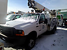 Altec AT200-A, Telescopic Non-Insulated Bucket Truck, mounted behind cab on, 2000 Ford F550 Service Truck