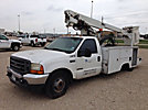 Altec AT200-A, Telescopic Non-Insulated Bucket Truck, mounted behind cab on, 2001 Ford F350 Pickup Truck