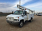 Altec AT200-A, Telescopic Non-Insulated Bucket Truck, mounted behind cab on, 2003 Chevrolet C4500 Service Truck