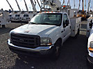 Altec AT200-A, Telescopic Non-Insulated Bucket Truck, mounted behind cab on, 2004 Ford F350 Service Truck