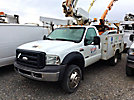 Altec AT200-A, Telescopic Non-Insulated Bucket Truck mounted behind cab on 2006 Ford F450 Service Truck