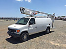 Altec AT200-A, Telescopic Non-Insulated Bucket Van, mounted behind cab on, 2006 Ford E350 Cargo Van