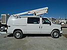 Altec AT200-AV, Telescopic Insulated Bucket Van center mounted on 2010 Ford E350 Cargo Van