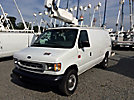 Altec AT200-AV, Telescopic Non-Insulated Bucket Van, mounted behind cab on, 2000 Ford E350 Cargo Van