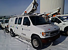 Altec AT200-AV, Telescopic Non-Insulated Bucket Van, mounted behind cab on, 2000 Ford E350 Cargo Van