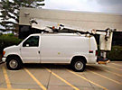 Altec AT200-AV, Telescopic Non-Insulated Bucket Van, mounted behind cab on, 2004 Ford E350 Cargo Van
