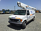 Altec AT200-AV, Telescopic Non-Insulated Bucket Van, mounted behind cab on, 2006 Ford E350 Cargo Van