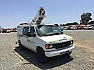 Altec AT200-AV, Telescopic Non-Insulated Bucket Van, mounted behind cab on, 2007 Ford E350 Cargo Van