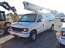Altec AT200-AV, Telescopic Non-Insulated Bucket Van mounted behind cab on 2006 Ford E350 Cargo Van