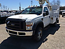 Altec AT235, Articulating & Telescopic Bucket Truck, mounted behind cab on, 2008 Ford F450 Service Truck