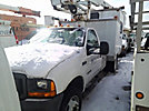 Altec AT235, Articulating & Telescopic Non-Insulated Bucket Truck, mounted behind cab on, 2000 Ford F550 Cable Splicing Van