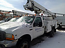 Altec AT235, Articulating & Telescopic Non-Insulated Bucket Truck, mounted behind cab on, 2001 Ford F450 Service Truck